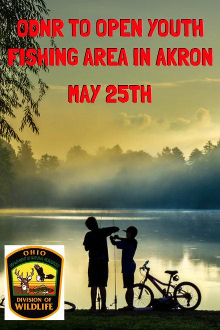 Odnr Will Open Youth Fishing Area In Akron May25th Akron Youth Portage Lakes