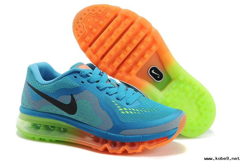 affordable price check out low cost Authentic Mens Nike Air Max 2014 Light Blue Green Black Orange ...