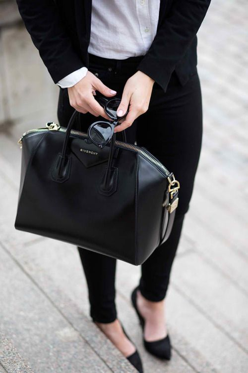 Accessorize with a classic bag. Currently loving the Givenchy Antigona bag. 5102909ad07d7