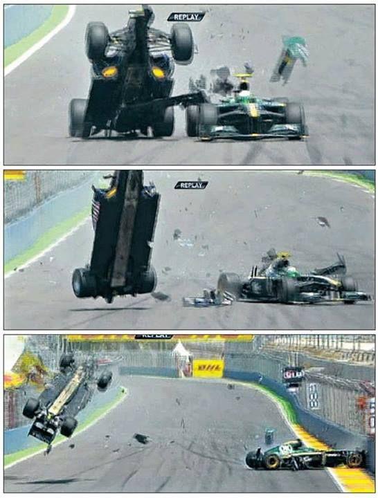 f1 GP da Europa de 2010. A Lotus-Caterham de Heikki Kovalainen