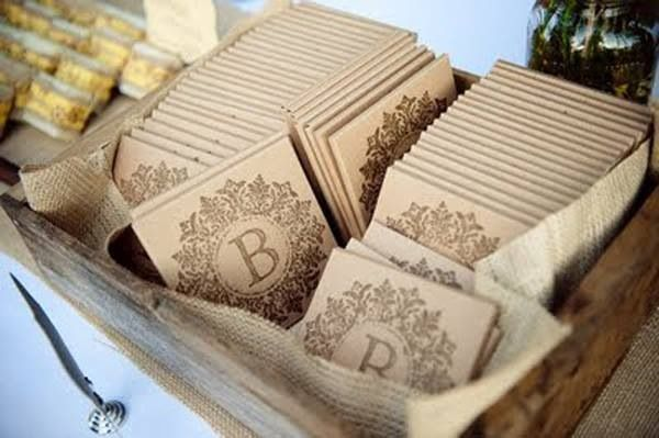 Need an idea for a wedding favor? Share your favorite songs with your wedding guests with a cd of you and your fiancés favorite music.