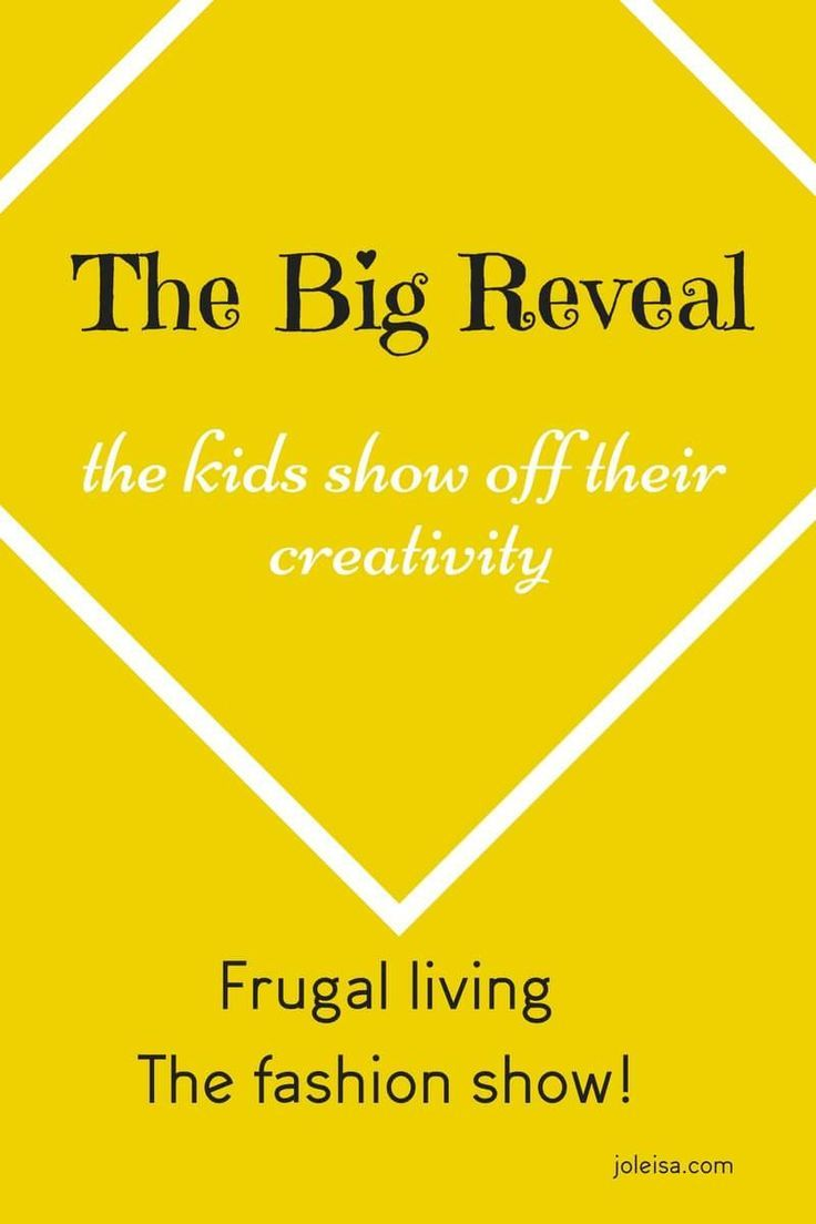 The Big Reveal The Kids Own Creativity Big reveal