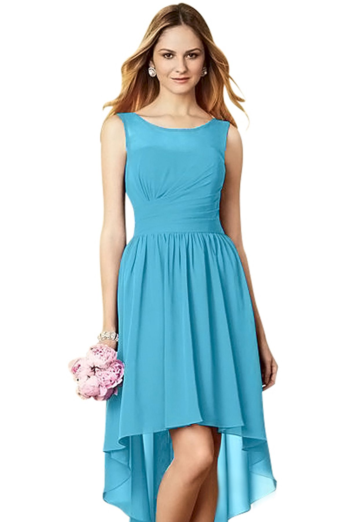 Alfred Angelo 7298 S Bridesmaid Dress in Turquoise in Chiffon ...