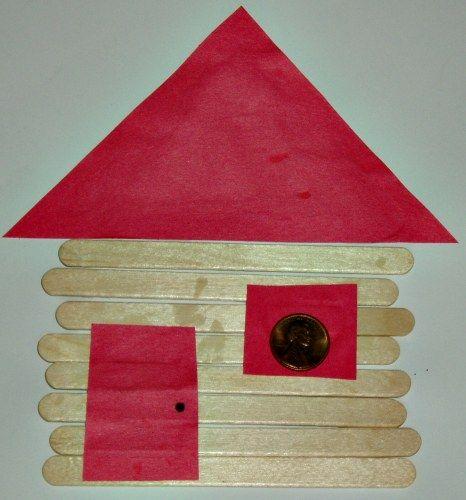 Abe Lincoln Log Cabin Craft From Kiboomu Cabin Crafts Log Cabin Craft Winter Crafts Preschool