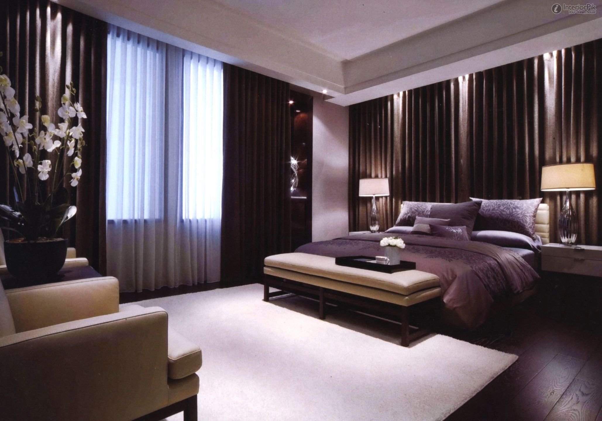 Modern Style Master Bedroom Curtain Decoration Effect Master Bedroom Curtains Luxury Bedroom Decor Modern Master Bedroom