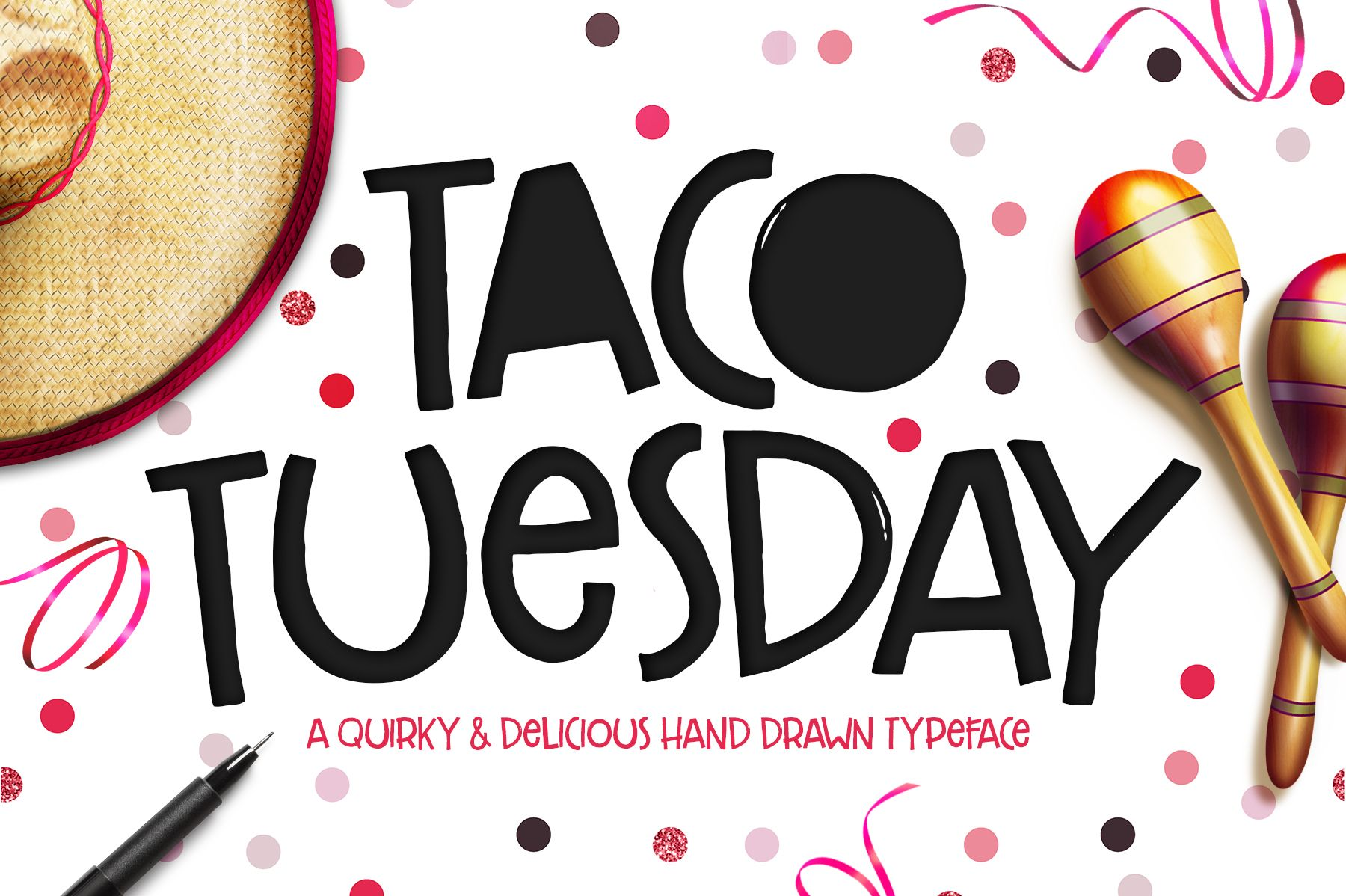 Font Alert Taco Tuesday Typeface By Callie Hegstrom On @Creativemarket