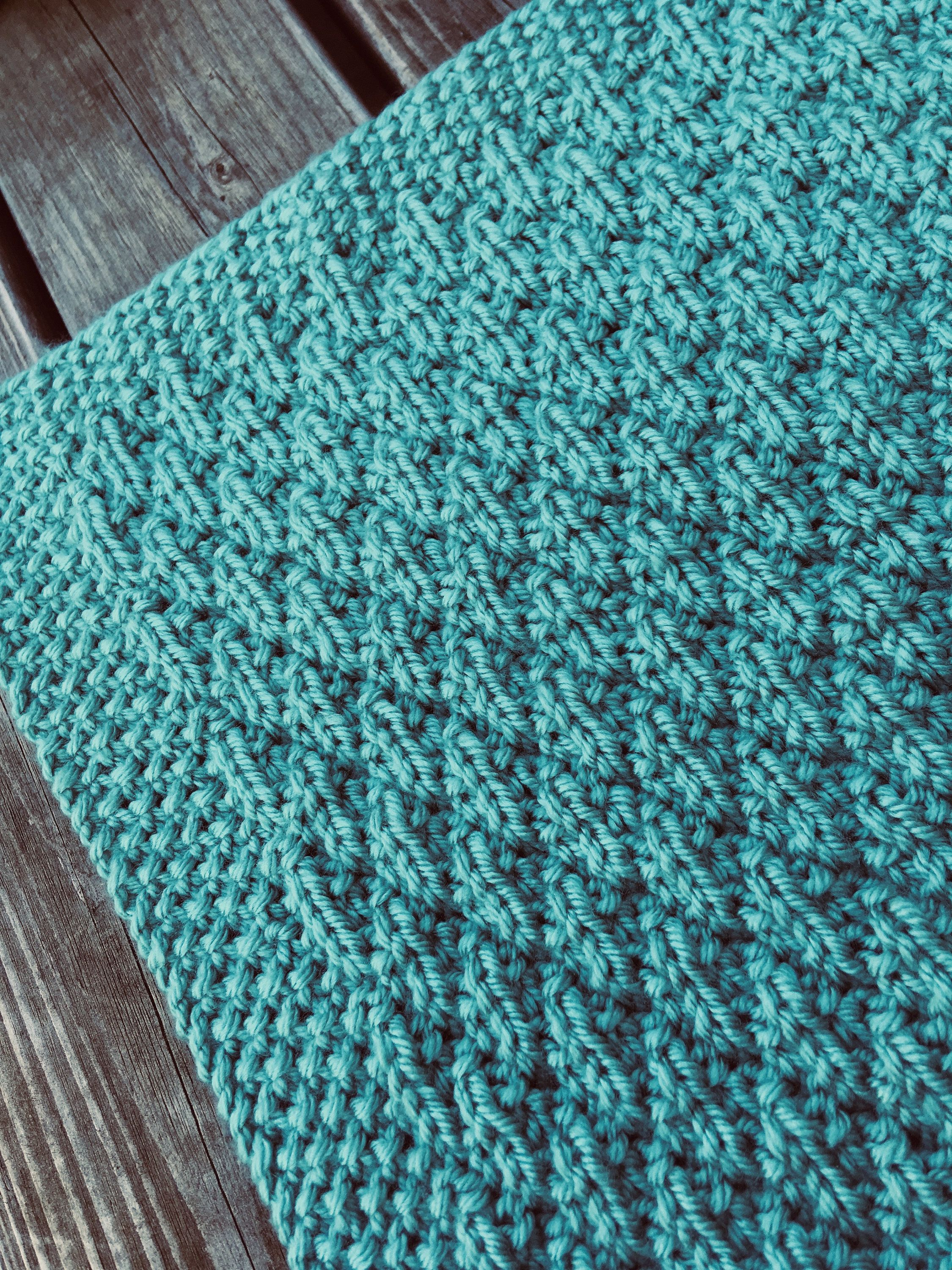 Easy Textured Diamond Knitting Pattern, Instant Download, PDF by ...