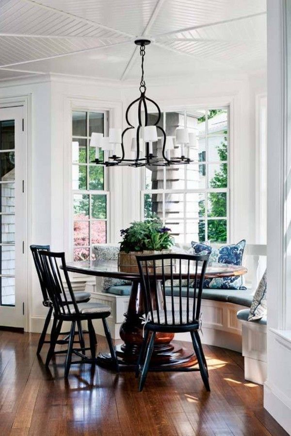 Bay Window Seating Styles  Bench Window And Interiors Entrancing Window Seat In Dining Room Inspiration Design