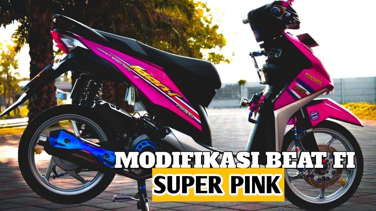 Modifikasi Motor Beat Esp Warna Pink Motor Kendaraan Motor Modifikasi