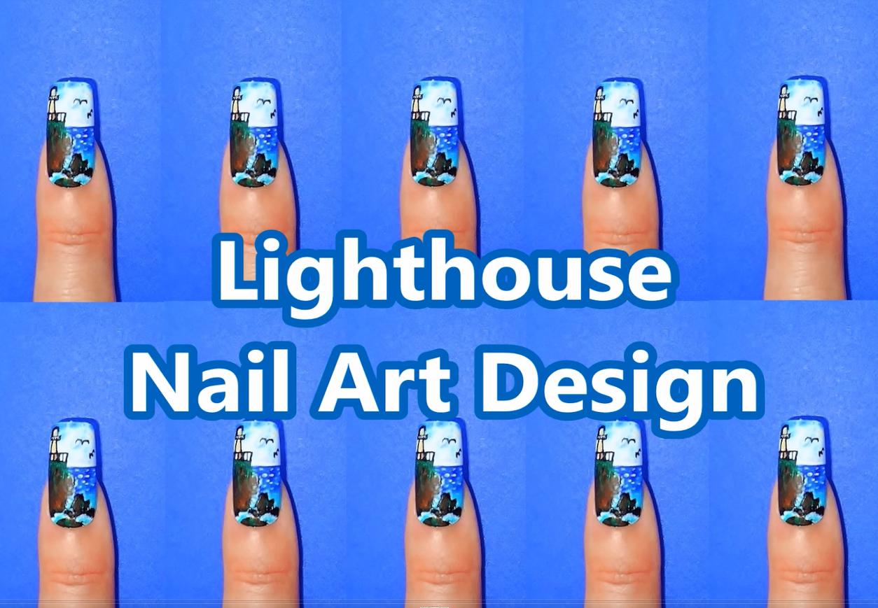 Lighthouse Nail Art Design