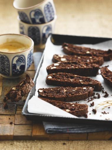 Chocolade biscotti met Amaretto