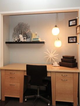 Repurpose An Old Closet To Be A New Desk Area! Perfect For Teen Girls Rooms,  Or Dorm Area Bedroom, Beach Inspired Homework Space   Modern   Home Office  ...