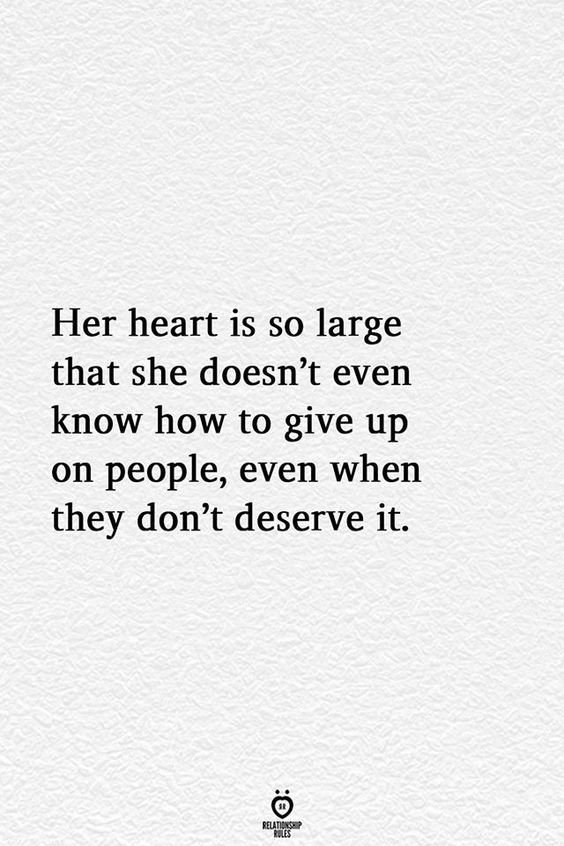 Her Heart Is So Large That She