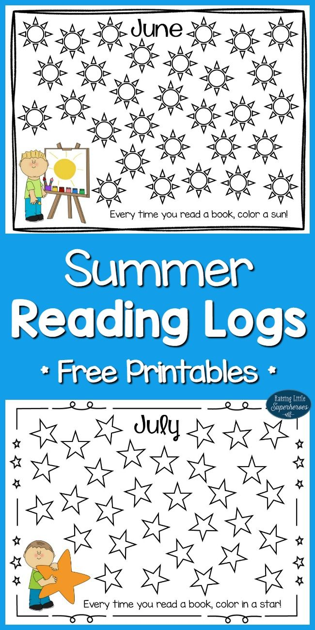One way to make reading fun during the summer is to track the number of books read with these printable Summer Reading Logs for June and July.