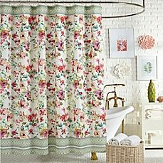 Image Of Jessica Simpson Watercolor Garden Shower Curtain In Pink