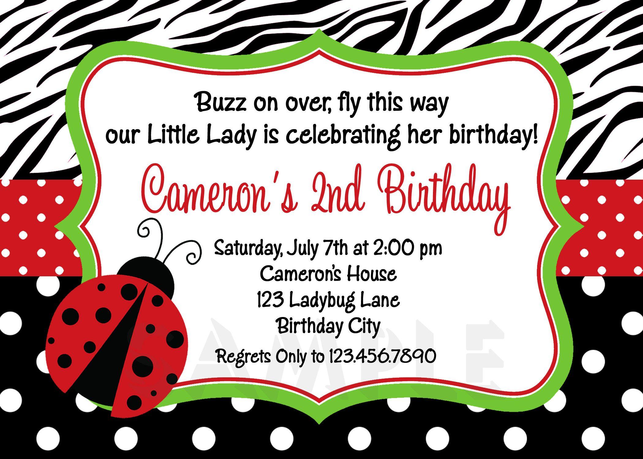 Unique Ideas For Ladybug Birthday Invitations Templates