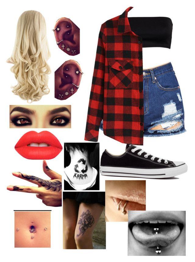 """""""Outsider"""" by five-seconds-of-twentyone-pilots ❤ liked on Polyvore featuring Converse and Lime Crime"""