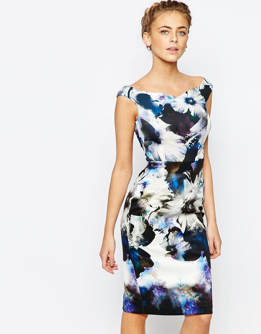 Asos wedding guest dresses with sleeves  LOVE this from ASOS Neckline silhouette  fashion finds