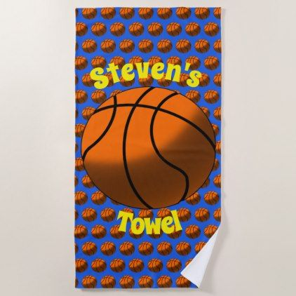 Basketball Beach Towel Bathroom Idea Ideas Home Living Diy Cyo Bath