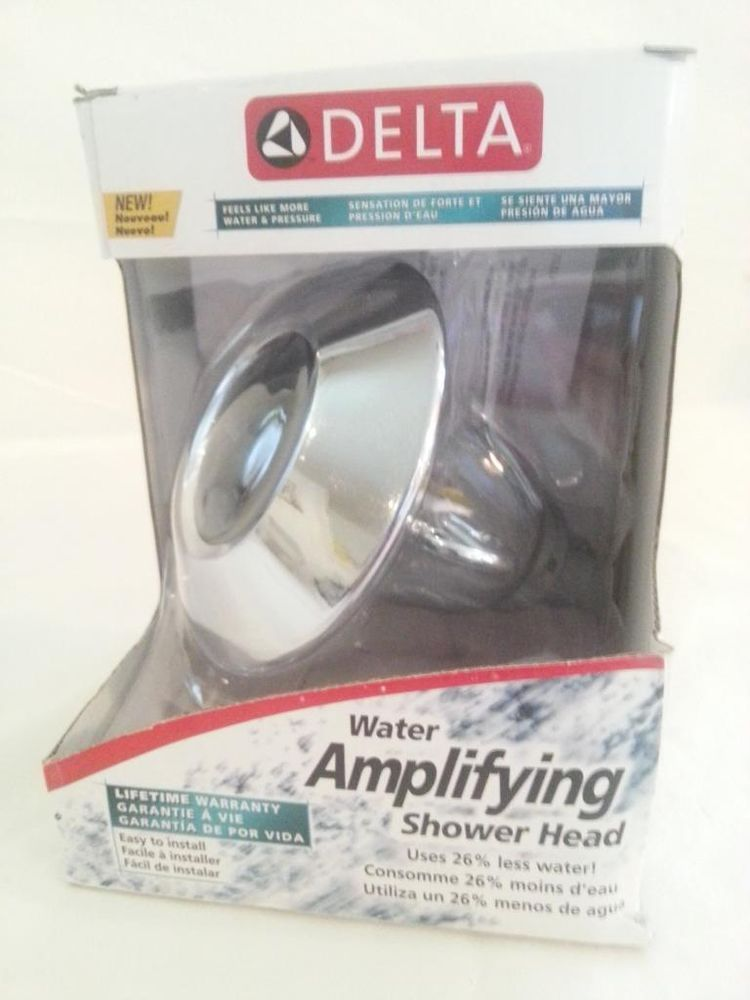 Delta Faucet 75152 Water Amplifying Adjustable Showerhead H2OKINETIC ...