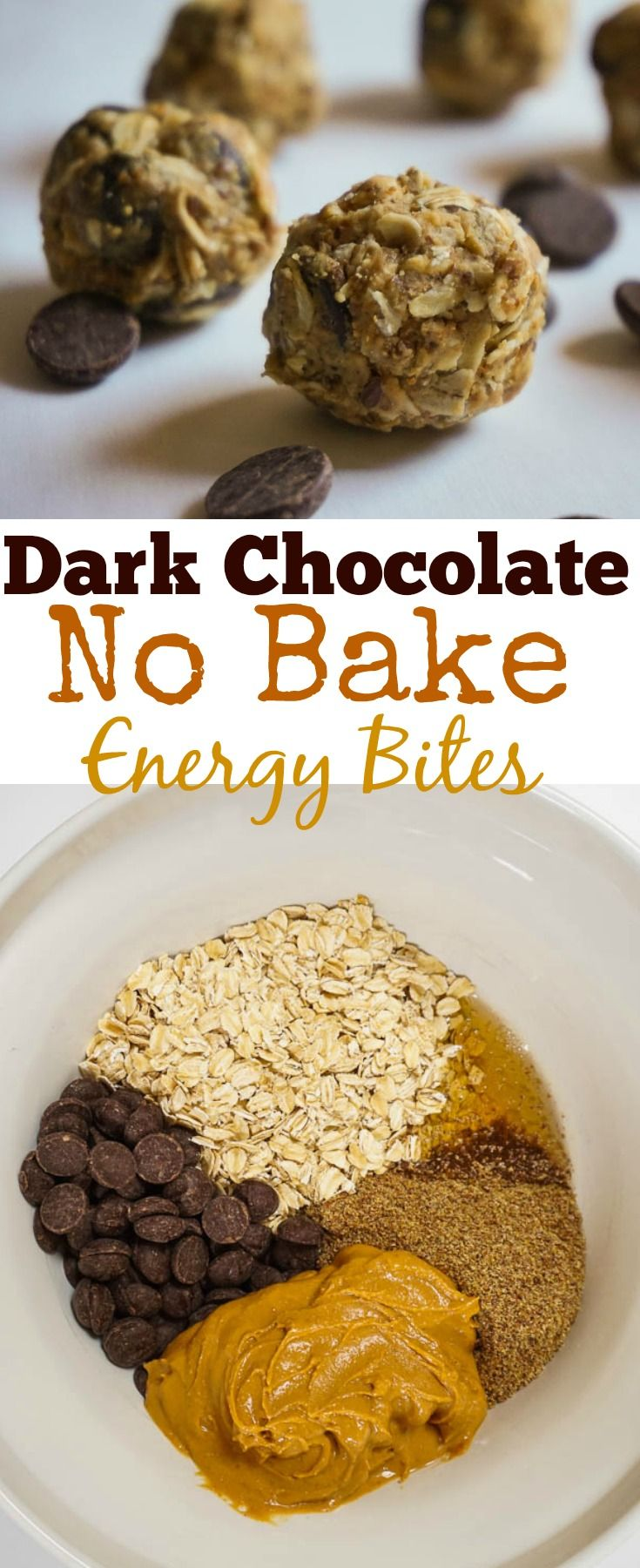 Dark Chocolate No Bake Energy Bites | Purely Easy