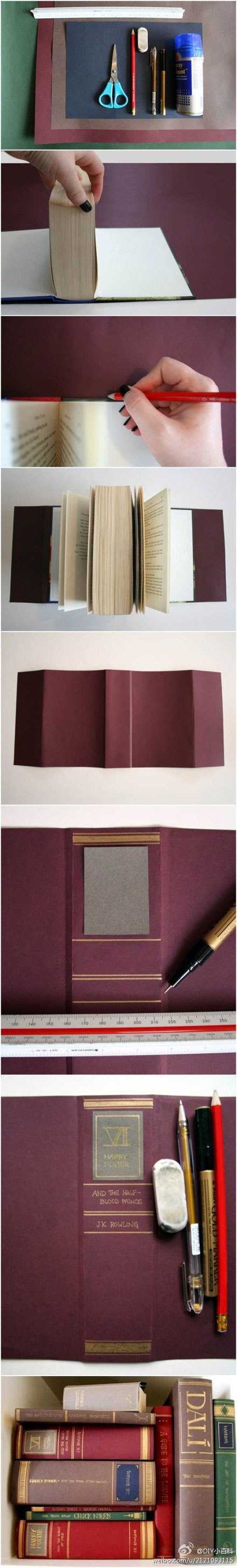 """DIY """"Old"""" book cover"""