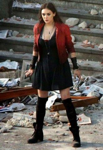 Assembling An Avengers Age Of Ultron Scarlet Witch Costume Scarlet Witch Costume Scarlet Witch Cosplay Elizabeth Olsen Scarlet Witch