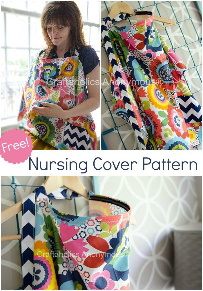 Nursing Cover Pattern with Pocket   erstes Baby, Nähen und Nähanleitung