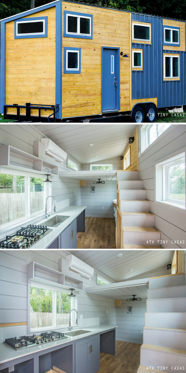 The Chuy: a modern/rustic tiny house with two spacious loft bedrooms ...