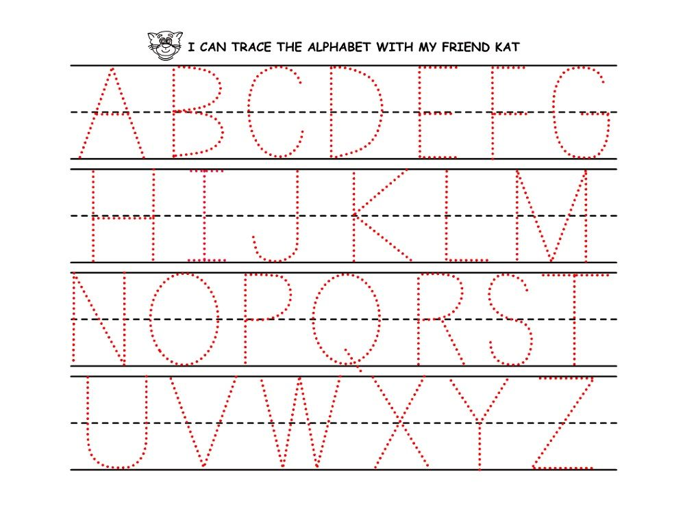 Traceable Alphabet Worksheets A Z Free Abcs Pinterest