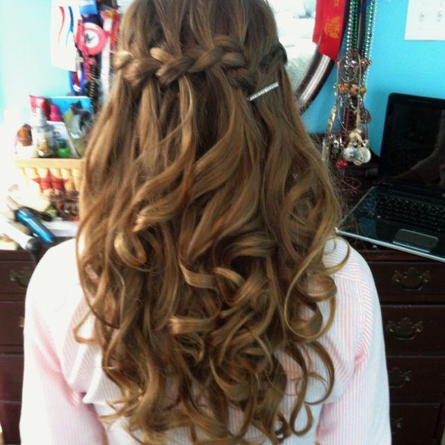 Waterfall Braid For Prom Night Hairstyles Weekly Hair Styles Perfect Hair Hair