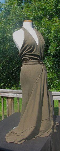 Amazing cotton knit Aphrodite wrap dress M/L by EvenRose on Etsy, $100.00