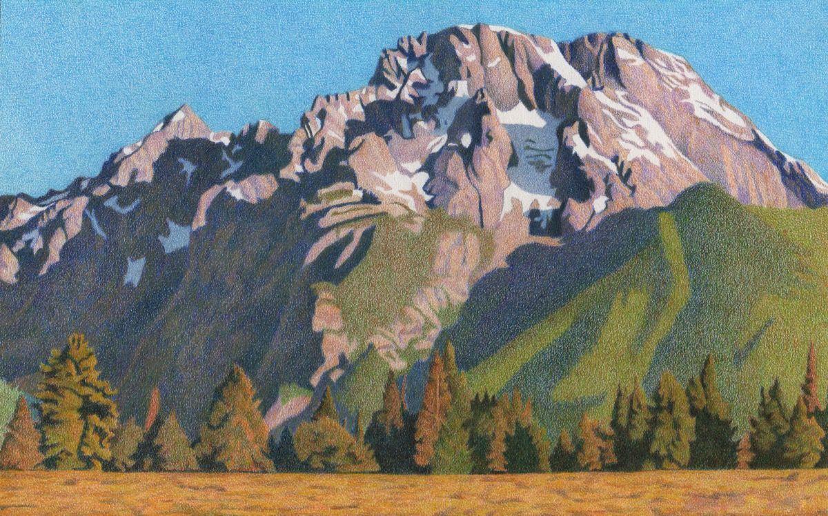 говорят, картинки гор как нарисовать цветными босоножки купить