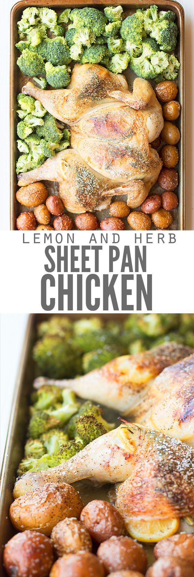 Lemon and Herb Sheet Pan Chicken #onepandinners