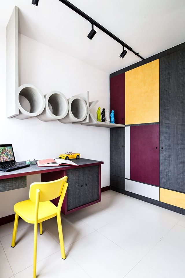 Hdb Study Room Design Ideas: 10 Inspiring HDB Home Offices Where You Can Definitely Get
