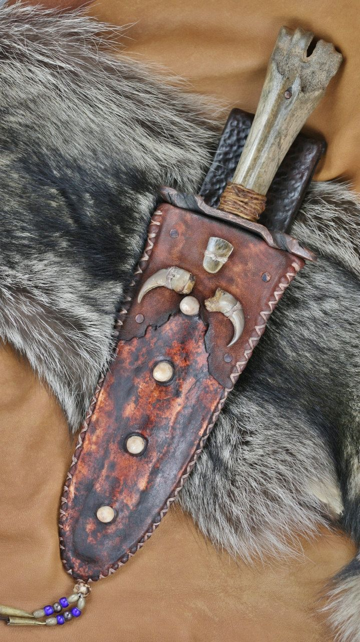 Mountain Man Knife, Bear Slayer | Blades | Knife sheath