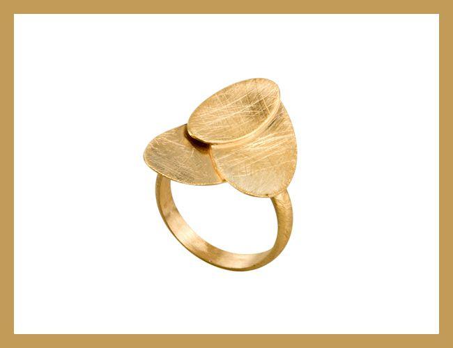 Für Schmuck-Victims. FAYE Ring Gold  von INTRADA`s  auf DaWanda.com