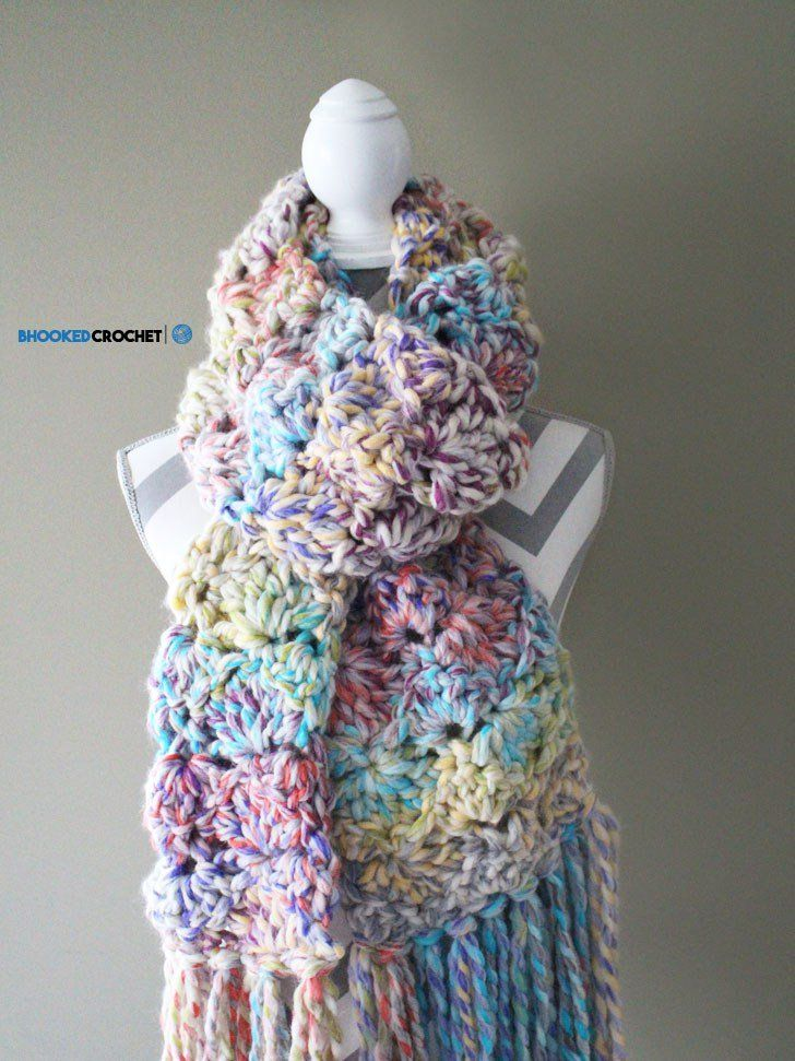Easy Crochet Scarf - Snuggle Up Scarf by Red Heart - Pattern ...