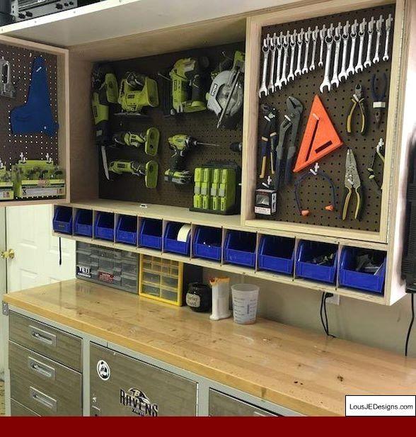 Photo of Garage Workshop Layout Uk and Diy Garage Workbench Storage. #garagetoolstorage #…
