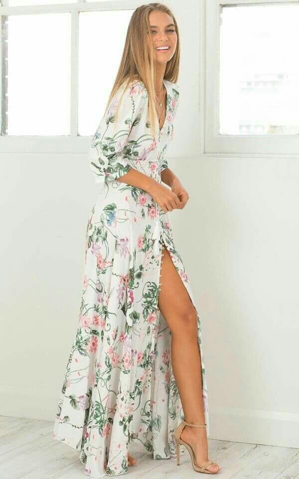 Vestidos largos floreados de verano