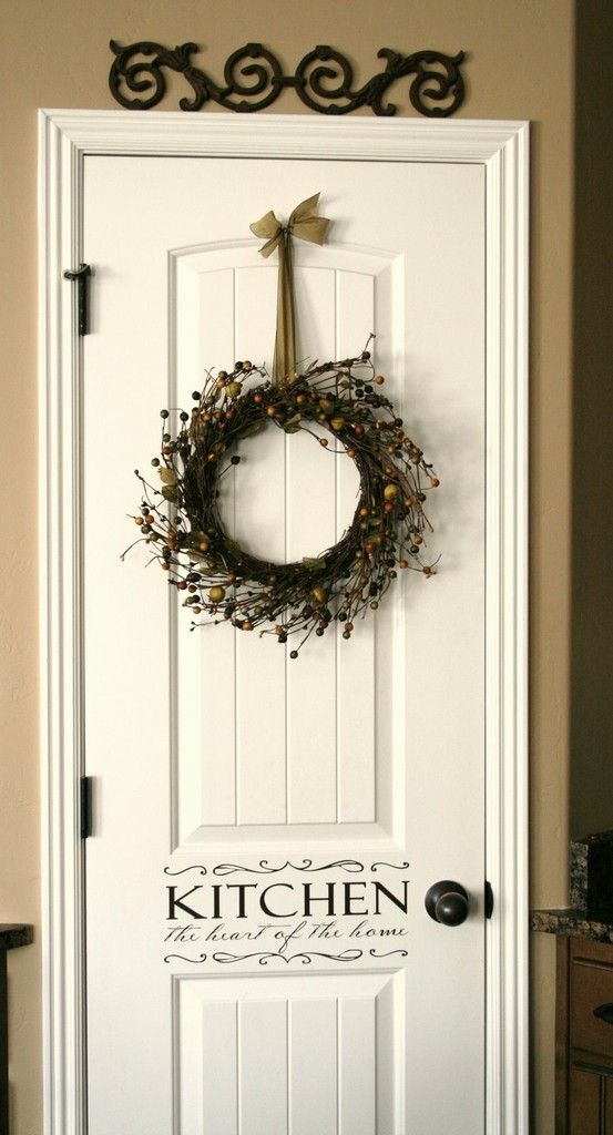 Love this for a pantry door.