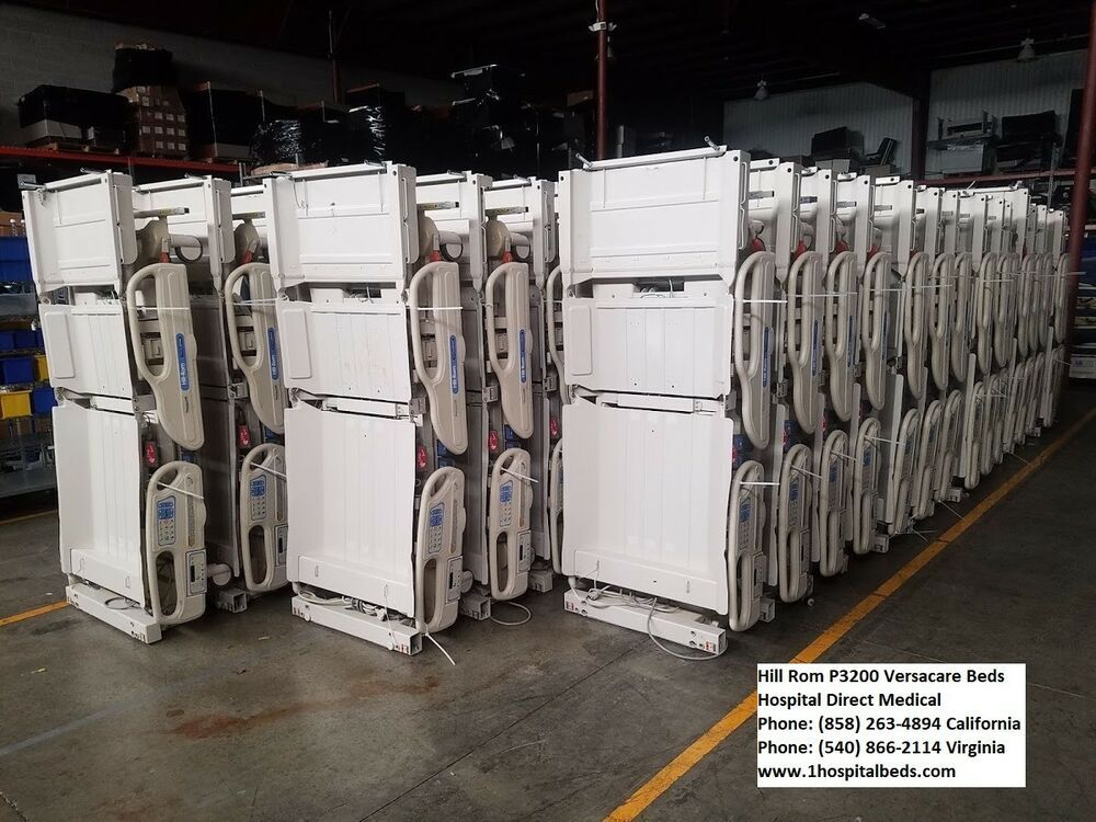 (5) Hill Rom P3200 Versacare Hospital Beds P500 AIR