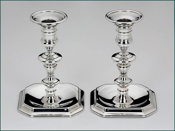 Zilveren Kandelaar Amsterdam.Stel Zilveren Kandelaars Uit 1831 Meesterteken J H