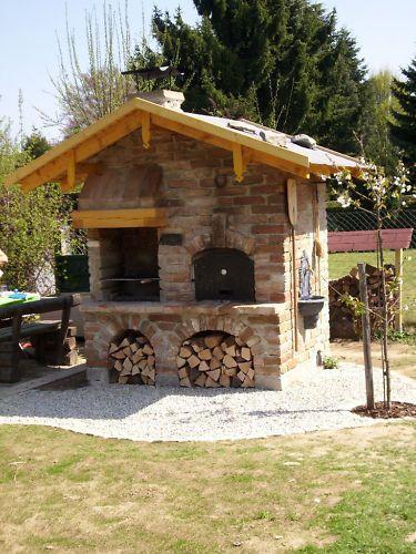 Pizza steinbackofen grill backofen r ucherofen for Grill selber bauen naturstein