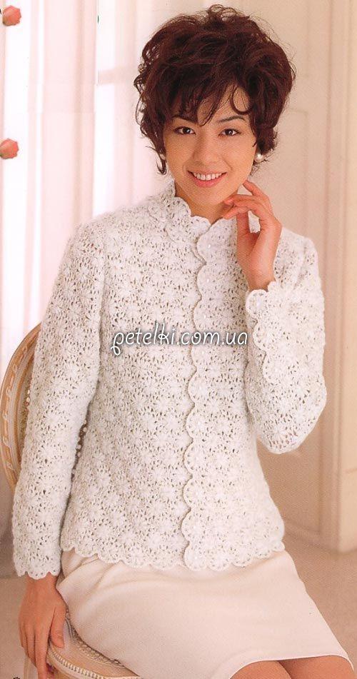 нарядный жакет крючком схемы вязания Blusas Al Crochet вязание