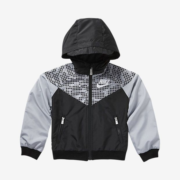 Black Nike Toddler Boys Hoodie Athletic Jacket 2T
