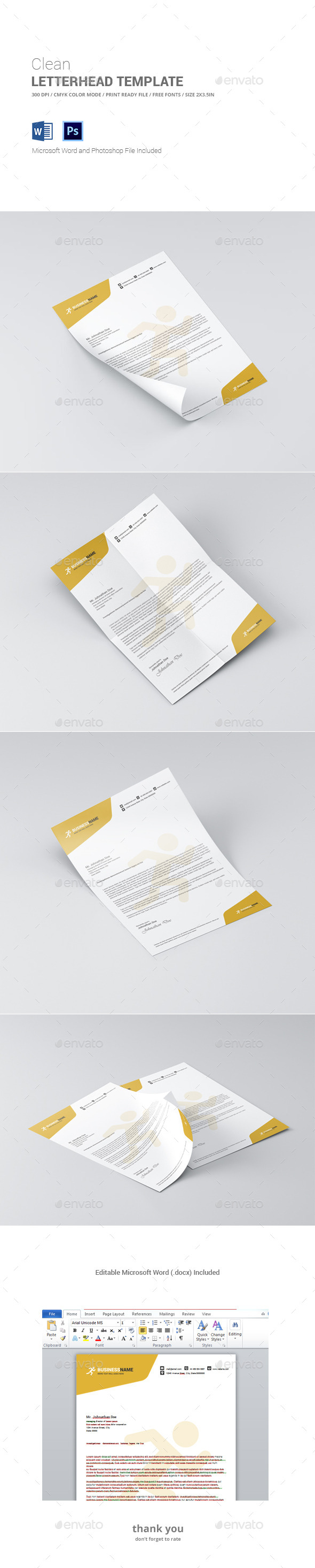 Letterhead Template With MS Word