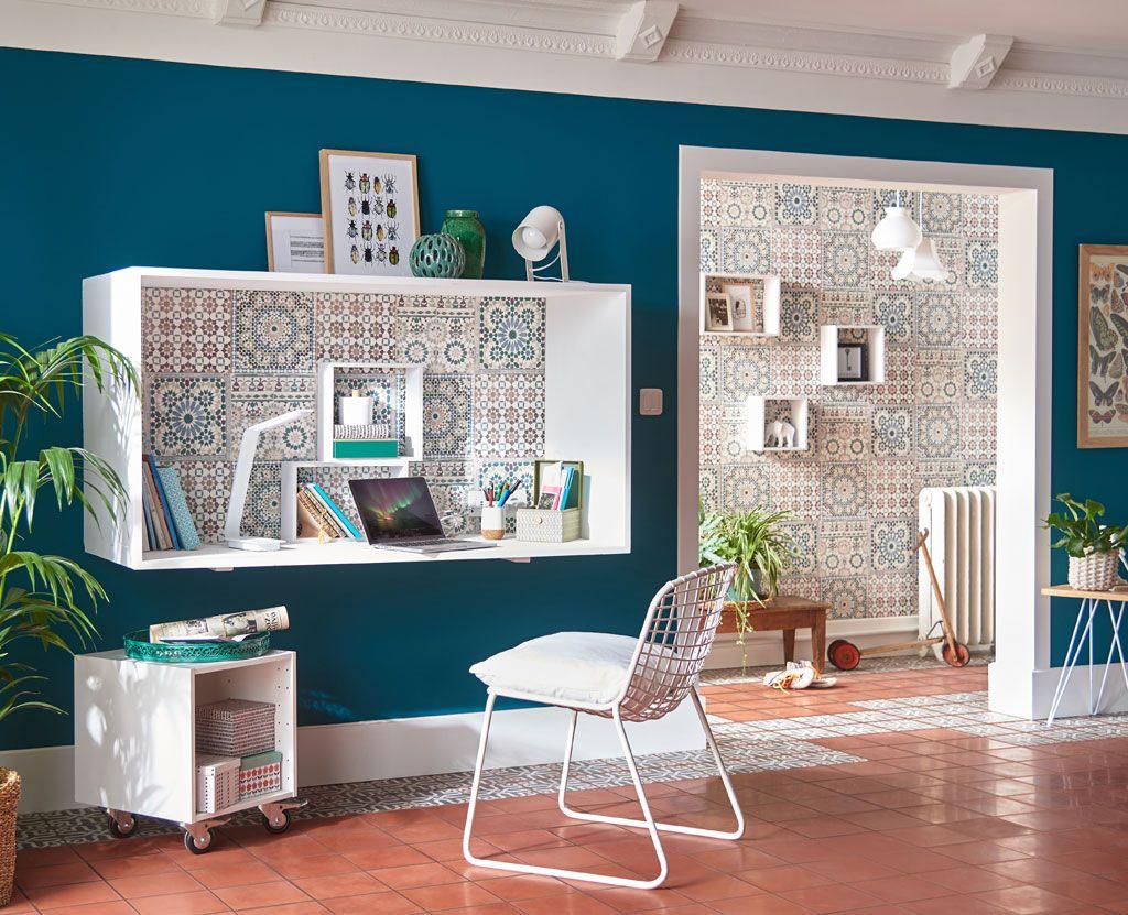 Un Bureau Caisson Comme Un Tableau En Volume Deco Maison Idee Deco Maison Decoration Maison