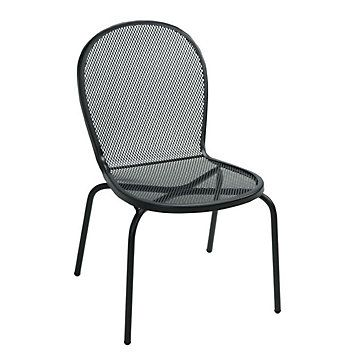 Bistro Armless Outdoor Metal Chair // Outdoor Patio Chairs