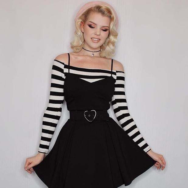 54ade47dc44 Collectif Mainline Naomi Plain Skater Dress in 2019 | Dresses I ...